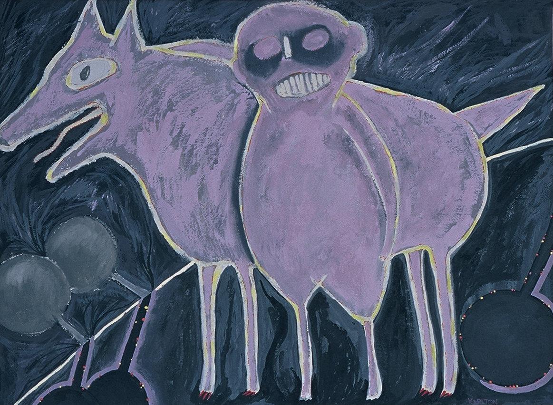 Untitled 7 (dog & figure)