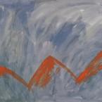 Untitled 80 (orange mountains)