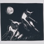 Untitled 89 (2 dogs, moon)
