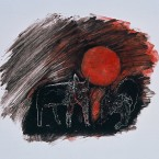 Untitled 98 (dogs, red sun)