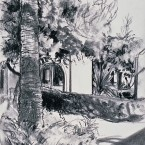 Untitled 137 (B&W tree, house)