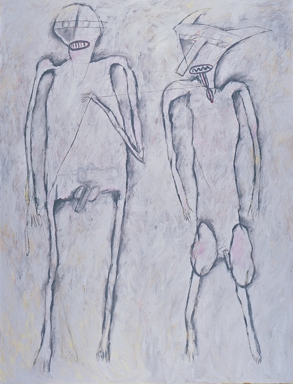Man & Dog/Two Figures