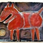 Red Dog at Night