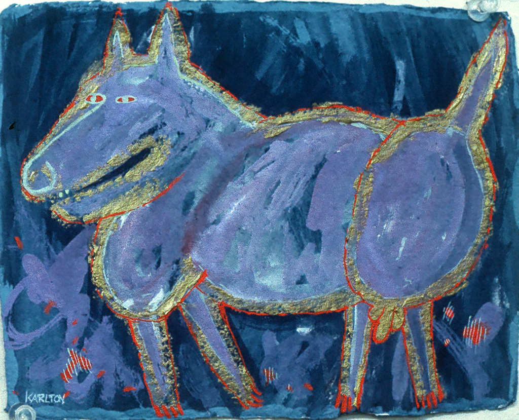 A Very Important Dog with Solid Gold Balls (1990) (sold)