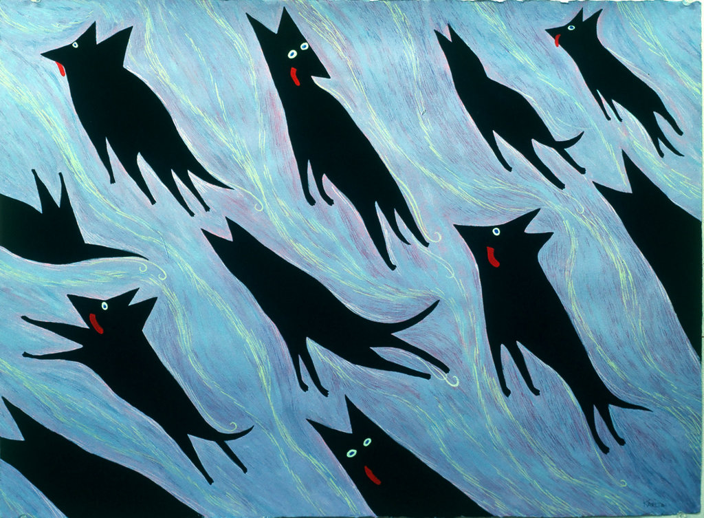 Dogs in Heaven (1990) (sold)